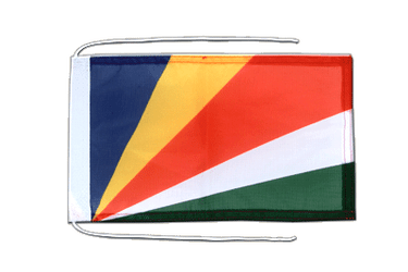 Seychelles Flag with ropes 8x12""