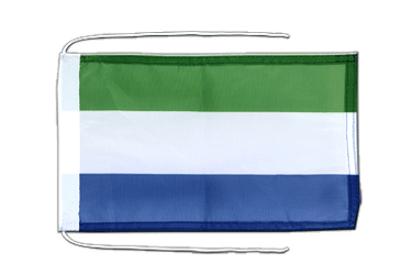 Sierra Leone Flag with ropes 8x12""