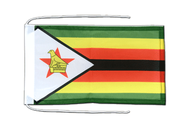 Zimbabwe Flag with ropes 8x12""