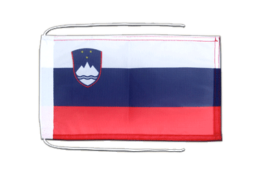 Slovenia Flag with ropes 8x12""
