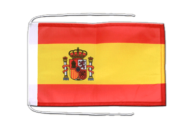 Spain with crest Flag with ropes 8x12""