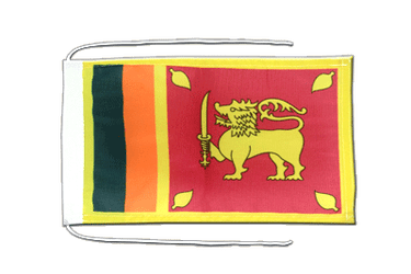 Sri Lanka Flag with ropes 8x12""