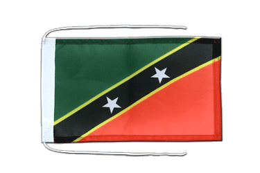 Saint Kitts and Nevis - Flag with ropes 8x12""
