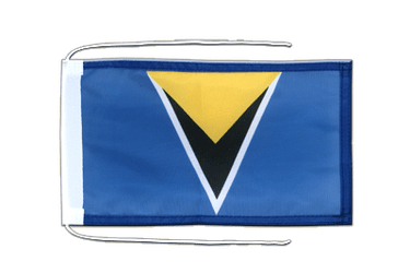Saint Lucia Flag with ropes 8x12""