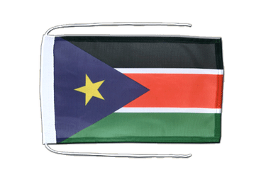 Southern Sudan Flag with ropes 8x12""