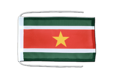 Suriname Flag with ropes 8x12""