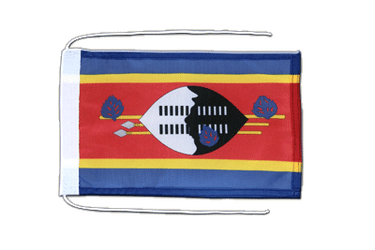 Swaziland - Flag with ropes 8x12""