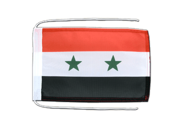 Syria Flag with ropes 8x12""