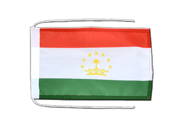 Tajikistan Flag with ropes 8x12""