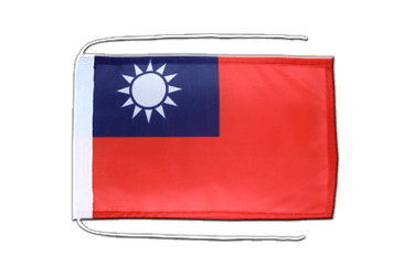 Taiwan - Flag with ropes 8x12""