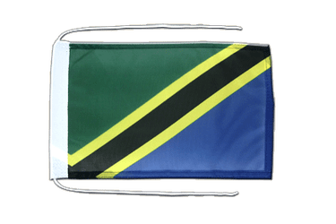 Tanzania - Flag with ropes 8x12""