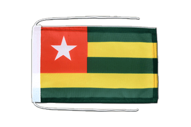 Togo Flag with ropes 8x12""