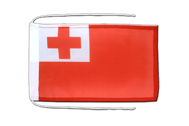 Tonga Flag with ropes 8x12""