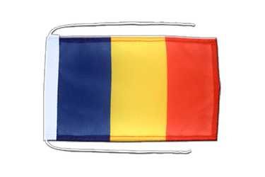Chad Flag with ropes 8x12""