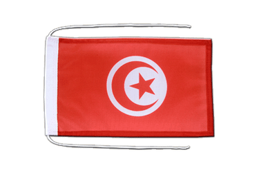 Tunisia - Flag with ropes 8x12""