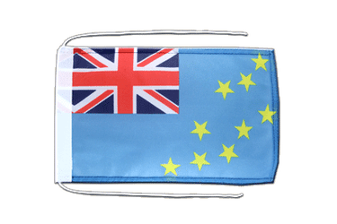 Tuvalu Flag with ropes 8x12""
