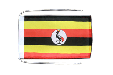 Uganda Flag with ropes 8x12""