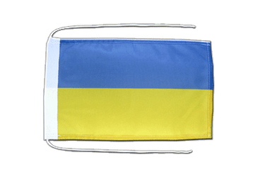 Ukraine - Flag with ropes 8x12""