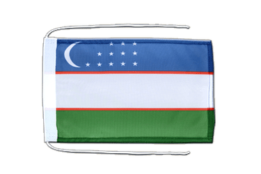 Uzbekistan Flag with ropes 8x12""