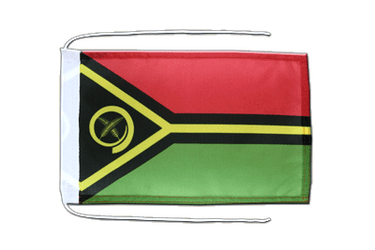 Vanuatu Flag with ropes 8x12""