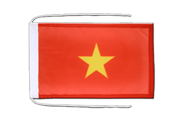 Vietnam Flag with ropes 8x12""