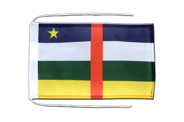 Central African Republic Flag with ropes 8x12""