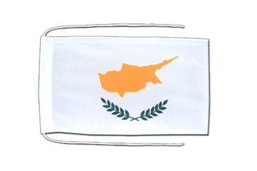 Cyprus - Flag with ropes 8x12""