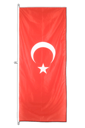 Turkey Vertical Hanging Flag 80 x 200 cm