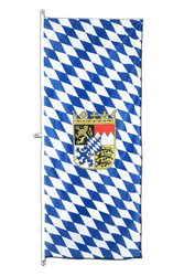 Bavaria with crest Vertical Hanging Flag 80 x 200 cm