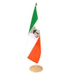 "Equatorial Guinea - Large Table Flag 12x18"", wooden"