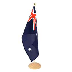 "Australia Large Table Flag 12x18"", wooden"