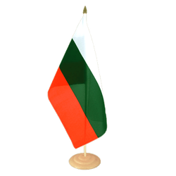 "Bulgaria Large Table Flag 12x18"", wooden"