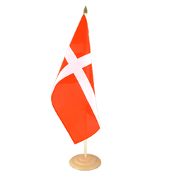 "Denmark Large Table Flag 12x18"", wooden"