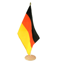 "Germany Large Table Flag 12x18"", wooden"