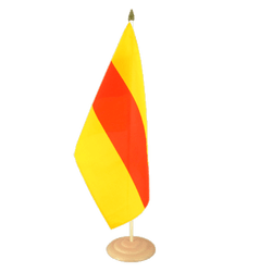"Baden Large Table Flag 12x18"", wooden"