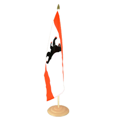 "Berlin Large Table Flag 12x18"", wooden"