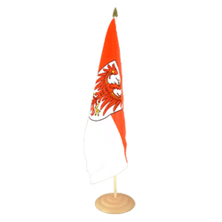 "Brandenburg Large Table Flag 12x18"", wooden"