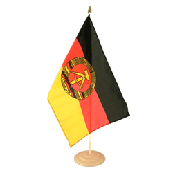 "GDR Large Table Flag 12x18"", wooden"