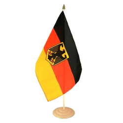 "Germany Dienstflagge Large Table Flag 12x18"", wooden"