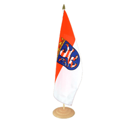 "Hesse Large Table Flag 12x18"", wooden"