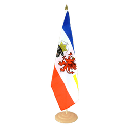 Grand drapeau de table Allemagne Mecklembourg-Poméranie-Occidentale en bois 30 x 45 cm