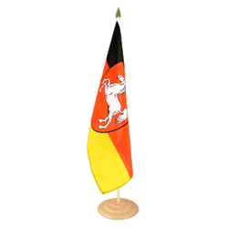 "Lower Saxony Large Table Flag 12x18"", wooden"