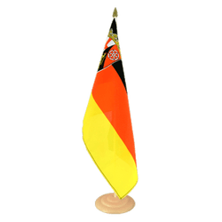 "Rhineland-Palatinate  Large Table Flag 12x18"", wooden"
