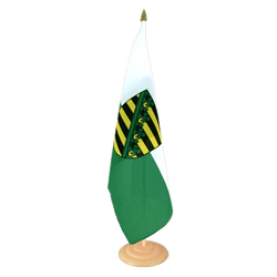 "Saxony  Large Table Flag 12x18"", wooden"