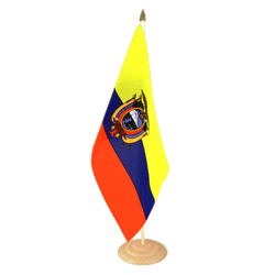 "Ecuador Large Table Flag 12x18"", wooden"