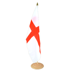 "England St. George Large Table Flag 12x18"", wooden"