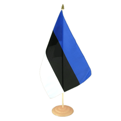"Estonia Large Table Flag 12x18"", wooden"