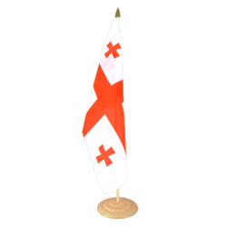 "Georgia Large Table Flag 12x18"", wooden"