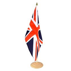 "Great Britain Large Table Flag 12x18"", wooden"
