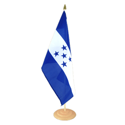 "Honduras Large Table Flag 12x18"", wooden"
